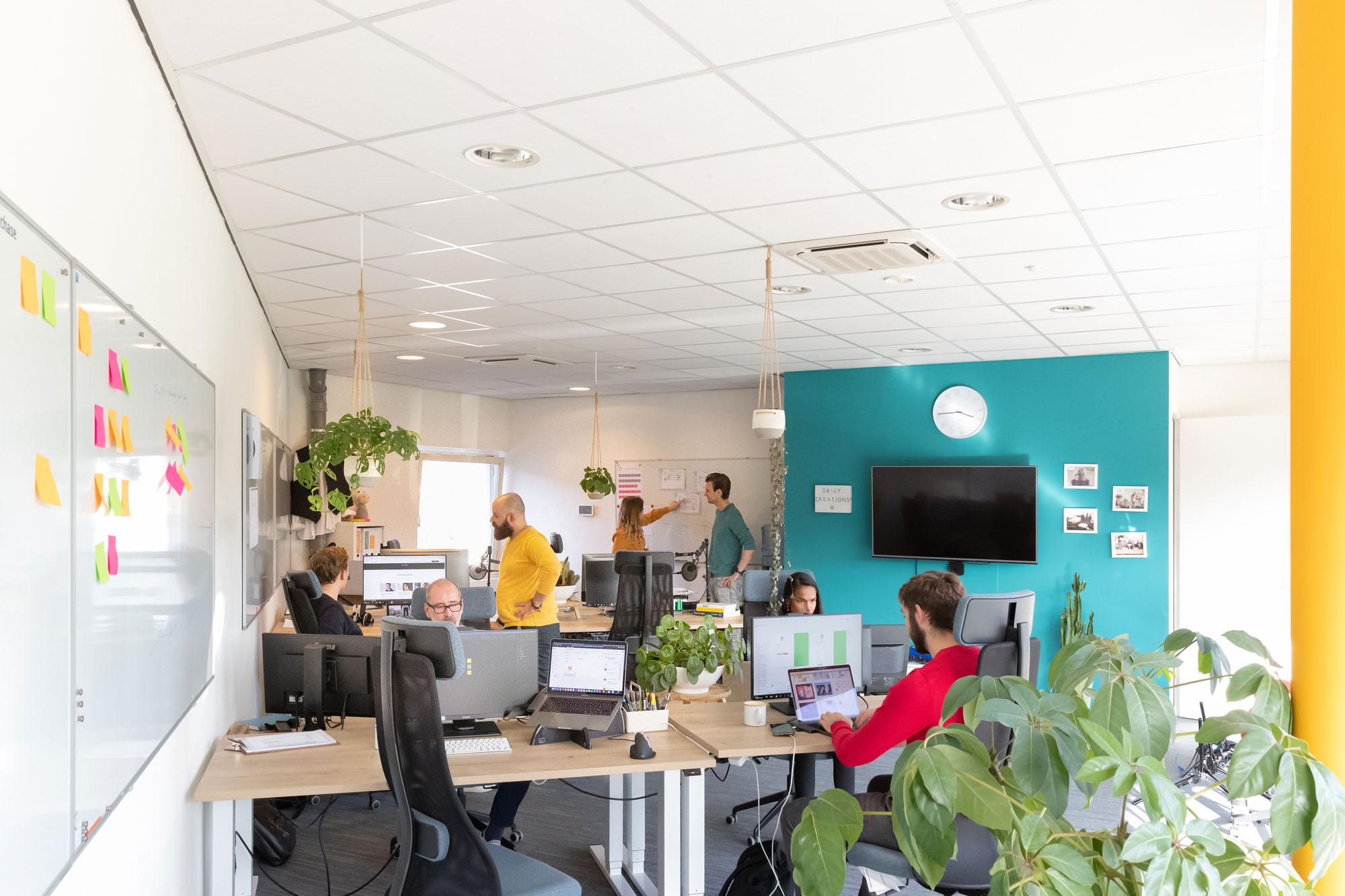 Sfeerbeeld van kantoor creatief bureau