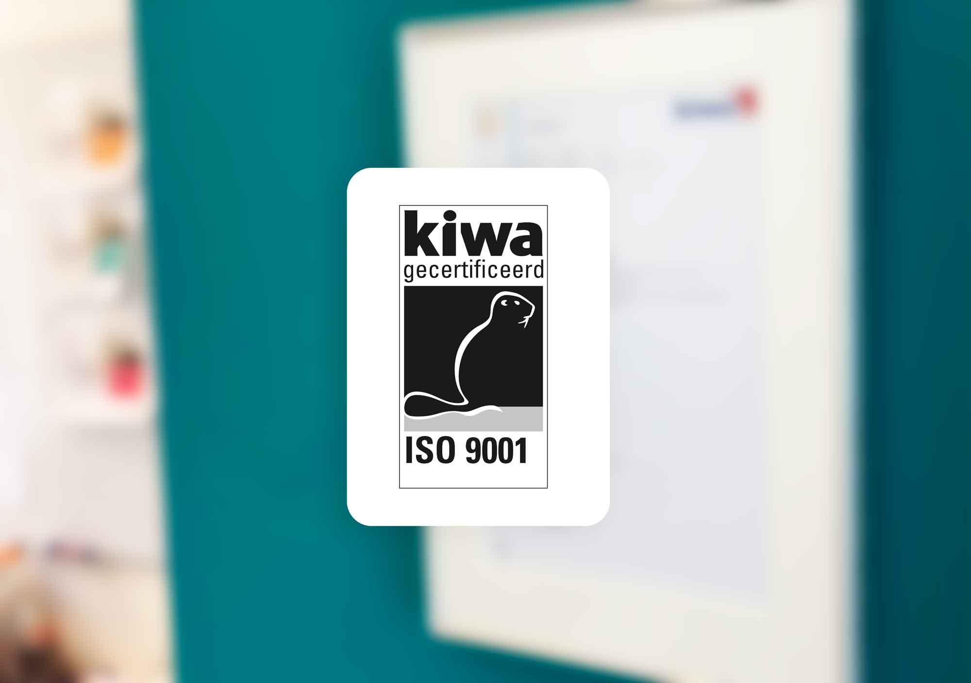 Logo ISO 9001 kiwa certificaat