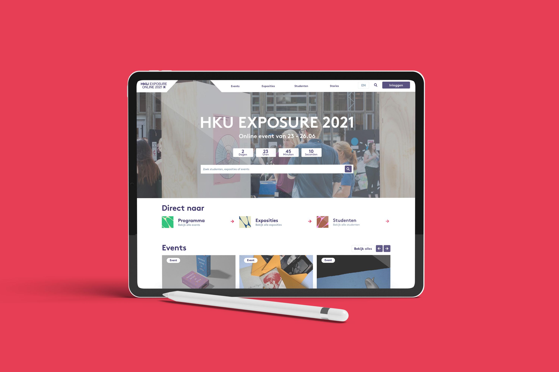 Tablet mock-up afstudeerevent voor HKU studenten