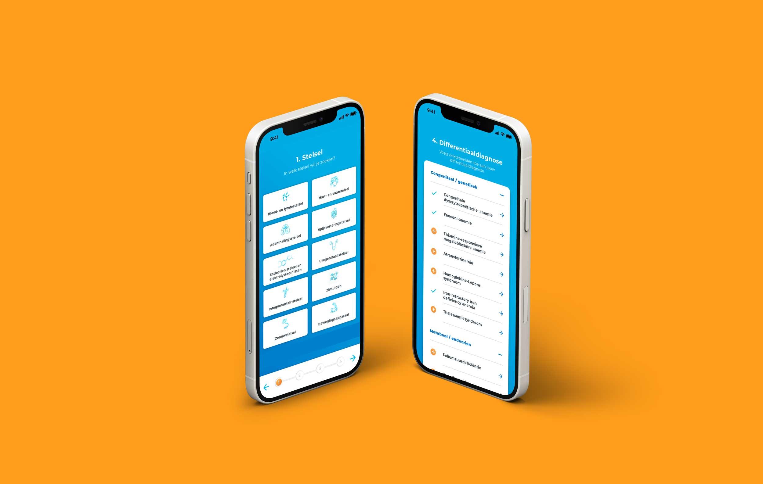 Mobiele mock-up DD op Zak applicatie